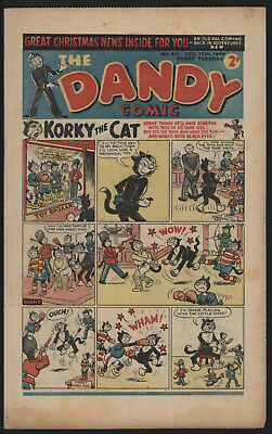 Dandy Comic #421 Dec 17Th 1949, Scarce Post War Issue, Smaller Size