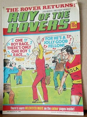 Roy of the Rovers Comic in very good condition dated 27th March 1982