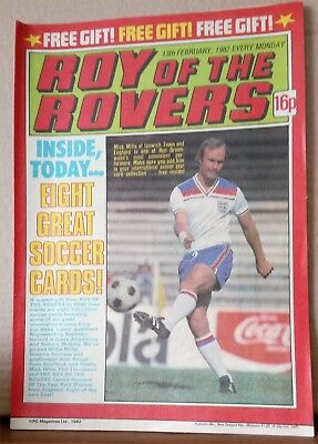Roy of the Rovers Comic in very good condition dated 13th February 1982