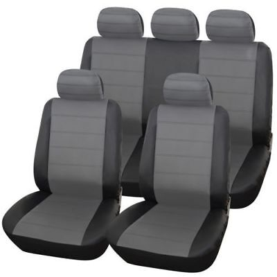 Toyota Yaris (11+) Urban Grey/blk Leather Seat Covers For