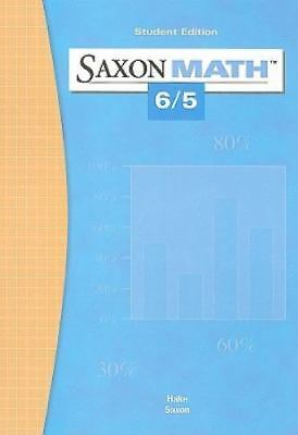 Saxon Math 6/5: Student Edition 2004, SAXON PUBLISHERS, Acceptable Book
