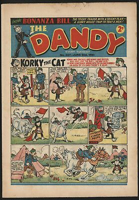 Dandy Comic #497, Jun 2Nd 1951, Scarce Issue, Nice Condition.