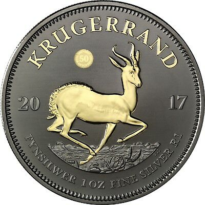 Special Krugerrand 2017 South Africa 1 Rand Silver Coin Ruthenium Edition