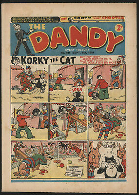 Dandy Comic #511, Sept 8Th 1951, Scarce Issue, Really Nice Condition.
