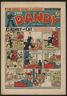 Dandy Comic #513 Sept 22Nd 1951, Scarce Issue, Really Nice Condition.