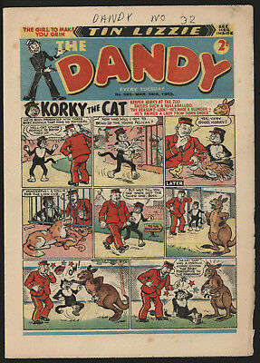 Dandy Comic #592, Mar 28Th 1953, Nice Condition, Original Owner Copy