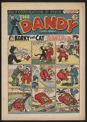 Dandy Comic #598, May 9Th 1953, Very Nice Condition, Original Owner Copy