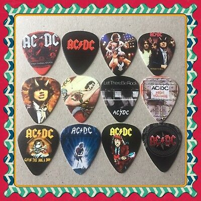 🎸 Lot Of 12 AC/DC 🎸 Guitar Picks Brand New 🎸