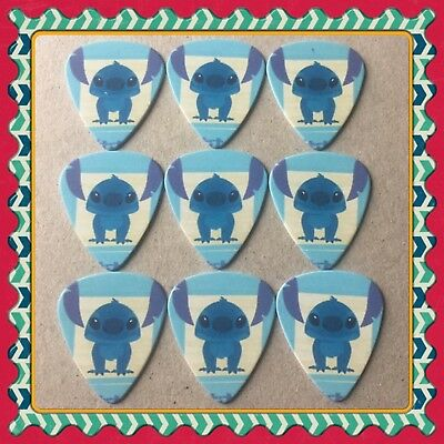 Lot Of 9 Double Sided ❤️Lilo & Stitch ❤️  Guitar Picks Brand New #10