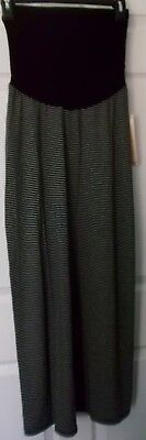 Motherhood Maternity Oh Baby Black White Striped Maxi Skirt - Size Small - Nwt
