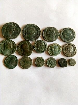029.Lot of 15 Ancient Roman Bronze Coins,Very Fine