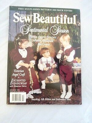 Martha Pullen's Sew Beautiful Magazine Back Issue Holiday 1996 Patterns Included