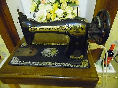 Tabletop Singer Sewing Machine With Add On Electric Motor