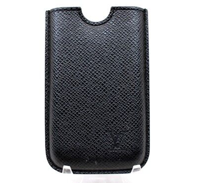 Louis Vuitton LV Taiga Leather Cell Phone Apple iPhone Case - Black