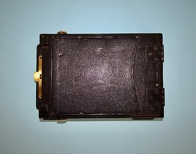 An early leather and wood 9 x 12 Film Pack adapter (?) in very good condition