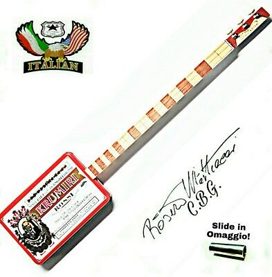 KRUMIRI 3SP Cigar Box Guitar by Robert Matteacci's signature