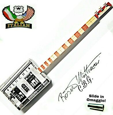 Venchi 3SP Cigar Box Guitar by Robert Matteacci's signature