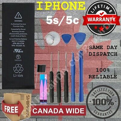 100% FULL Capacity Battery For iPhone 5S/5C  1560 mAh + Free Tools & Adhesive