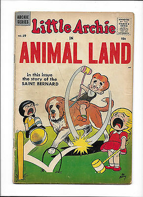 Little Archie In Animal Land #19  [1958 Gd-Vg]  Croquet Cover!
