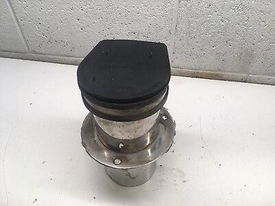 W6 Through Hull Marine Wet Exhaust Fitting 4 Inch with Flapper