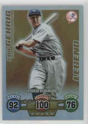 2009 Topps Attax Legends Lou Gehrig New York Yankees Baseball Card