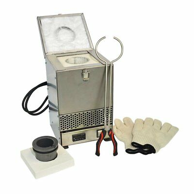 AGT HD-2343SS Stainless Steel Tabletop Melting Furnace with 3kg Crucible 110V