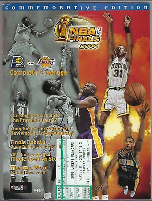 1999-2000 Nba Finals Pacers @ Los Angeles Lakers Program & Ticket Stub Game #6