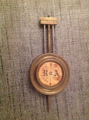 Antique Brass French Clock Pendulum 35g 48mm Diameter 110mm Long For Spare Parts