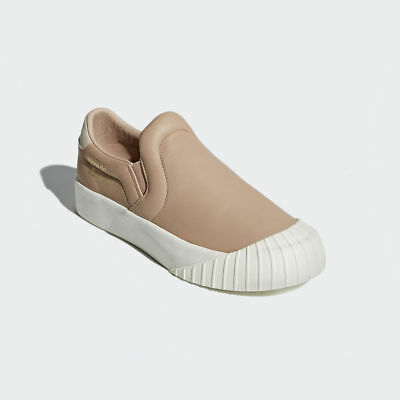 e213326f33d Adidas Women s Everyn Slip On Leather Shoes Sneaker Brown White CQ2061 Size  8