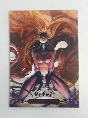 2018 Marvel Masterpieces Purple Parallel #d /199 MEDUSA #72
