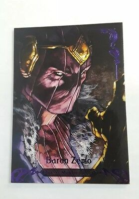 2018 Marvel Masterpieces Purple Parallel #d /199 Baron Zemo #42