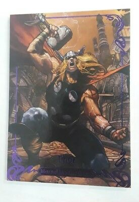 2018 Marvel Masterpieces Purple Parallel #d /199 THOR #84