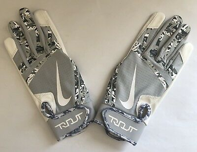 Nike Trout Edge Camo Batting Gloves Adult Size M *new*