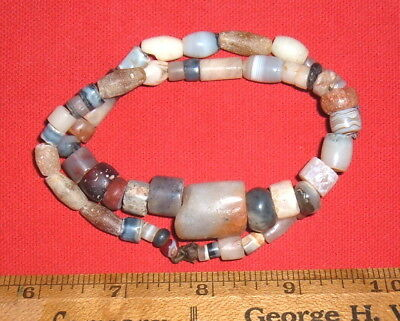 "Strand (16"") Assorted Sahara Neolithic Stone Beads Prehistoric African Artifacts"