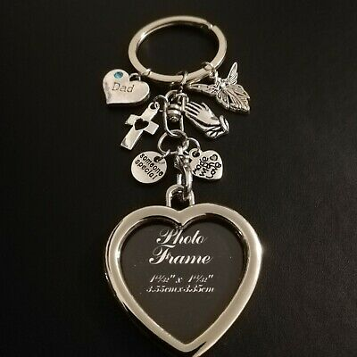 Dad Mum Family Keyring In Loving Memory Memorial Loss Memories Keepsake+Gift Bag