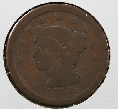 1855 Braided Hair Large Cent 80S7