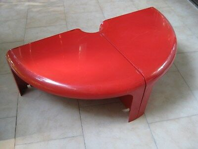 RARE 2  tavolini   tables BERNINI  rossi  bonetto    red   vintage  modernariato