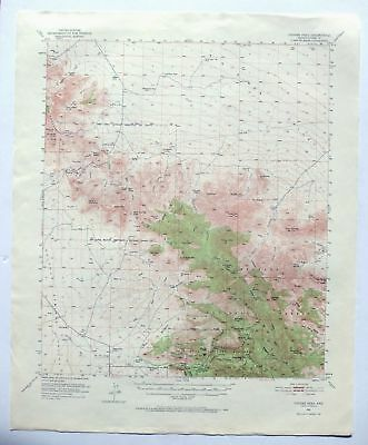 Cochise Head Arizona Vintage USGS Topo Map 1950 Chiricahua National Monument