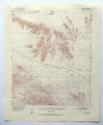 Estrella Arizona Vintage 1951 USGS Topo Map Maricopa Mountains Topographic