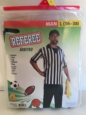 Rubies Men's 4 Piece Large 36-38 Sport Referee Halloween Costume NEW