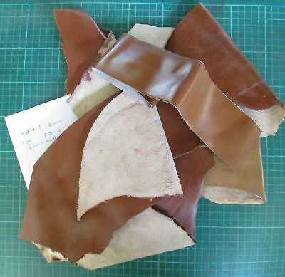 Leather Offcuts 5 pieces Brown suit patches, small projects 181104-1