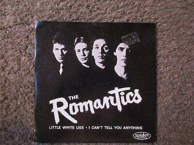 "The Romantics ""little White Lies""+""i Can't Tell You Anything"" 1977 W/ps Nm-//vg+"