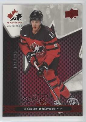 2018 Upper Deck Team Canada Juniors Exclusives 14 Maxime Comtois (National Team)