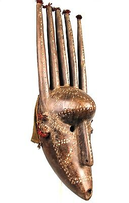 Art African Arts Premiers - Superb Mask Bambara to the Long Horns - 56 Cm