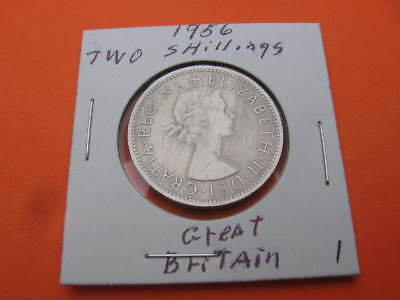 Great Britain Two Shilling Coin - Dated 1956 - 62 Yrs Old