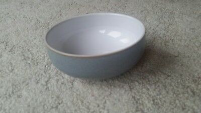 "Denby Jet 6"" Soup Or Cereal Bowl Gray or Grey White JET"