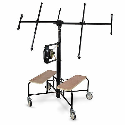 150-Lb. Capacity Drywall and Panel Hoist 11ft. Lift w/ 360 Wood Panel & Casters