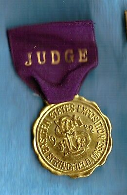 1922 Eastern states Exposition Springfield Mass Judges medal no reserve FARM Ag