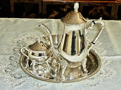 Beautiful Silver Plated Tea / Coffee Set With Tray Unused Viners?