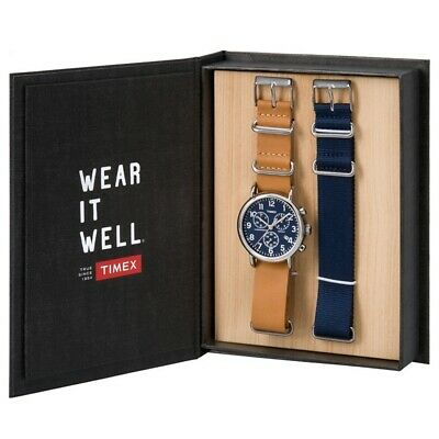 Timex TWG012800 Mens Weekender Watch and Strap Gift Set